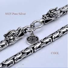 sterling silver necklace clasp images V ya men 39 s chains 925 sterling silver necklace men dragon clasp jpg