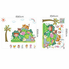 cartoon kinds zoo animal wall sticker for kindergarten and cartoon kinds zoo animal wall sticker for kindergarten and children room removable quotes stickers kids rooms