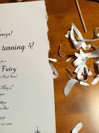 fairy writing paper i m quite crafty tinkerbell s pirate fairy party ideas next i used coffee to age the paper brew a strong cup of coffee lay the invitation down on a cookie sheet then with a sponge brush
