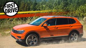volkswagen suv 3 rows the 2018 volkswagen tiguan is sterile but has a third row because