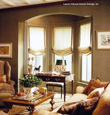 Bay Window Treatment Ideas by Relaxed Roman Shades In A Bay Window Relaxed Roman Shade Roman
