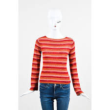 robe de chambre comme des garcons robe de chambre comme des garcons pink orange woolen woven stripe