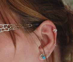 cartilage hoops ohm cartilage earring rock your nose jewlery handmade nose