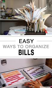 easy ways to organize bills