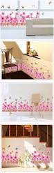 sunflower wall sticker hallway stairs corridor skirting line