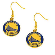dangler earrings golden state warriors nba team logo dangler