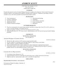 resume manager resumes objectives assistant resume sample