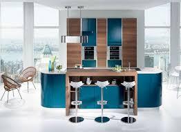 amenager un bar de cuisine aménager une cuisine ouverte bleu canard avec bar