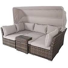 amazon de rattan lounge set provence liege sitzgruppe bank in