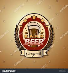 original dark beer bottle label template stock vector 352434485