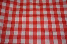 Red Plaid Upholstery Fabric Buffalo Check Fabric Ebay