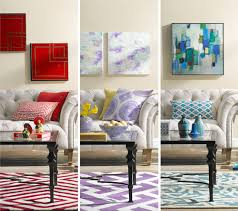 A Colorful Living Room Decorating Idea One Room Three Ways - Colorful living room