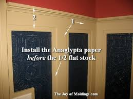 Installing Wainscoting In Bathroom - create this art deco powder room for 113 49 the joy of moldings com