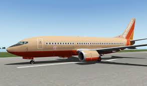 Southwest Flight 59 by Southwest Desert Gold Livery Boeing 733 Ixeg Aircraft Skins