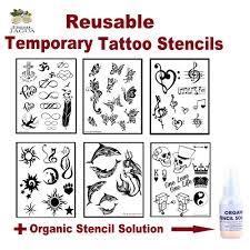 stencils sheets stencil solution fresh jagua gel tattoo set 03
