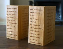 engraved bookends wood bookends