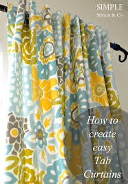 Tab Curtains Pattern Tab Top Curtain Tutorial Simple Simon And Company