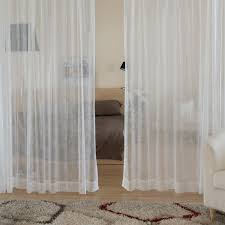 Curtains And Sheers Floral Sheer Curtains Of White In Light And Soft Design