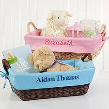 personalized basket personalized wicker baskets for baby baby gifts
