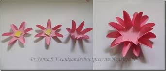 How To Make Easy Paper Flowers For Cards - cards crafts kids projects easy paper flower tutorial