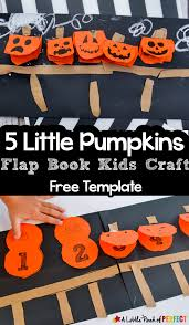 5 little pumpkins lift the flap book craft this halloween kids