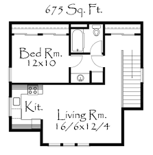 Sq Ft Country Style House Plan 1 Beds 1 Baths 675 Sq Ft Plan 509 39