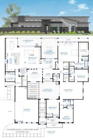 454 best floor house plans images on pinterest house floor 4231 sq ft contemporary courtyard house plan with a central front courtyard open