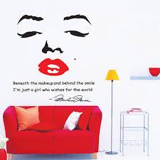 portrait of marilyn monroe diy wall wallpaper stickers art decor