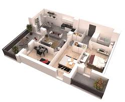 big floor plans 25 more 2 bedroom 3d floor plans
