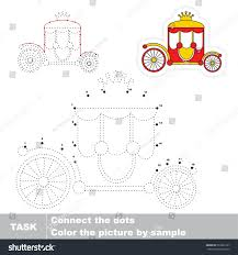 red princess shariot dot dot educational stock vector 593833127
