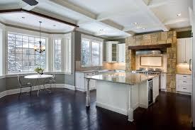 bay window kitchen ideas the open floor plan and large bay window make this large kitchen