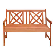 Eucalyptus Bench - shop vifah 24 in w x 48 in l eucalyptus patio bench at lowes com