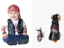 Biker Costume Babies And Dogs In Matching Halloween Costumes Make Me Want A Baby
