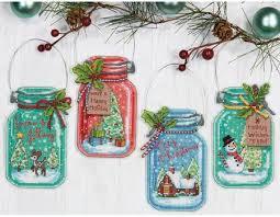 dimensions jar ornaments cross stitch kit 70 08964