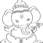 ganesh with laddu colouring pages for kids mocomi