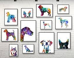 art glass dog ring holder images Dog art etsy jpg