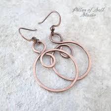 infinity spiral hoop copper wire earrings pillar of salt studio
