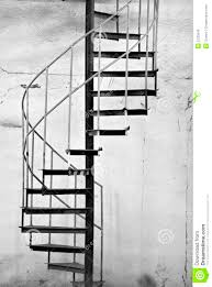 metal spiral staircase stock photo image of walls white 5330048