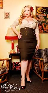 military secretary dress in tan and green by pinup couture plus