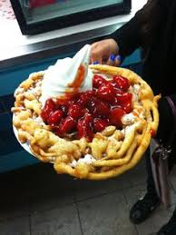 no fair funnel cakes from cold stone creamery funnel cake topped