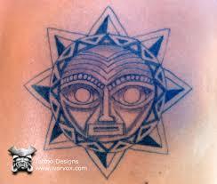 moon sun aztec tattoos aztec mayan inca