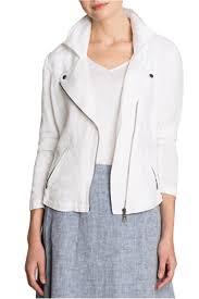 white motorcycle jacket zoe linen biker jacket paper white