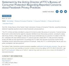 us federal trade commission bureau of consumer protection ftc on statement by the acting director of ftc s bureau
