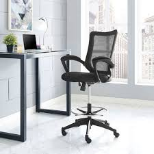 Standing Desk Chairs Modway Project Drafting Chair In Black Reception Desk Chair