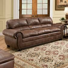 leather sofa with nailheads simmons upholstery padre sofa espresso hayneedle