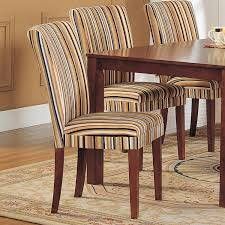 upholstered chairs for dining room striped upholstered dining chairs home design