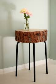 Log Side Table Diy Log End Table Decor Hacks