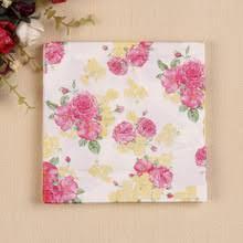 floral tissue paper floral paper napkins promotion shop for promotional floral paper