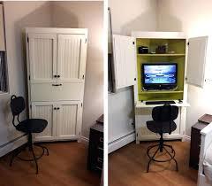 Computer Armoire Cabinet Armoire Computer Armoire White Desk Corner Home Office The