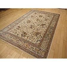 amazon com luxury silk rug ivory rug living room cream area rugs